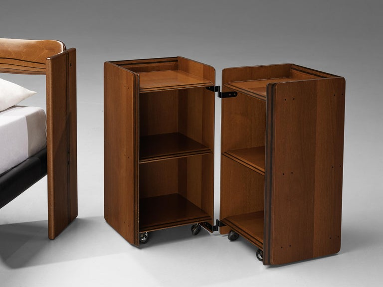 Afra & Tobia Scarpa 'Artona' Double Bed with Nightstands For Sale 2