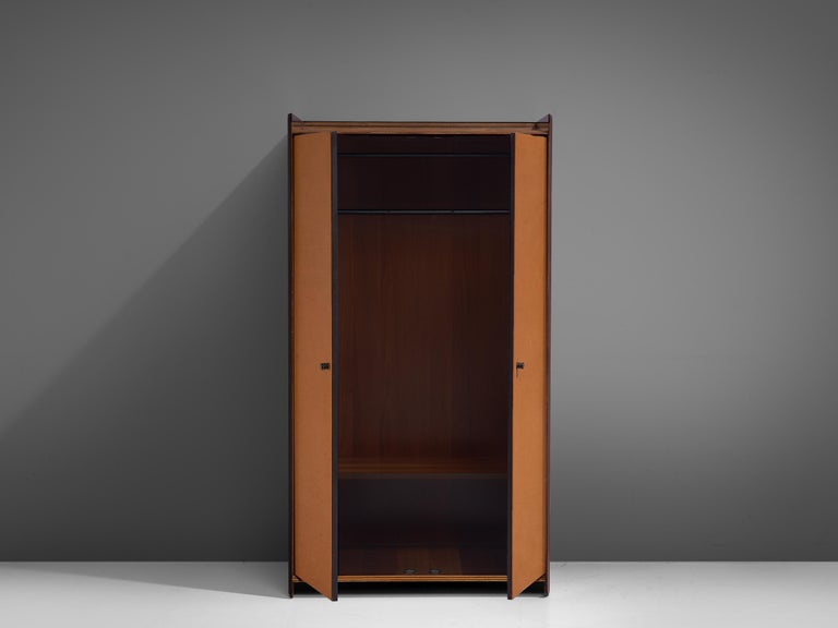 Italian Afra & Tobia Scarpa 'Artona' Leather Cabinet For Sale