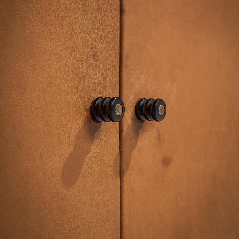 Afra & Tobia Scarpa 'Artona' Leather Cabinet For Sale 2