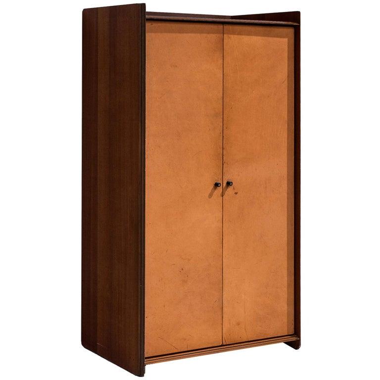 Afra & Tobia Scarpa 'Artona' Leather Cabinet For Sale