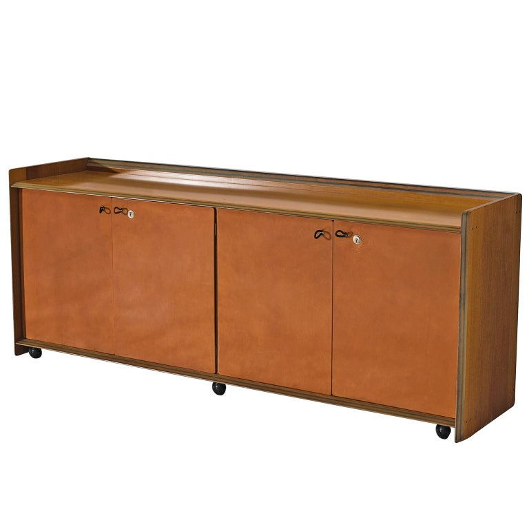 Afra & Tobia Scarpa 'Artona' Leather Cabinet For Sale