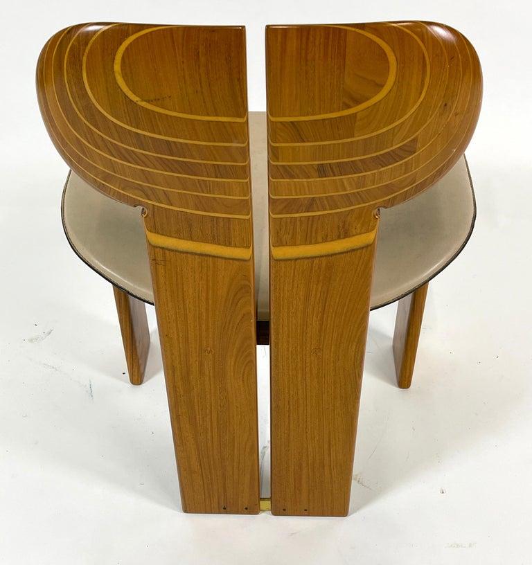 Afra & Tobia Scarpa Artona Series 'Africa' Chairs Produced, Maxalto 4 Available For Sale 2