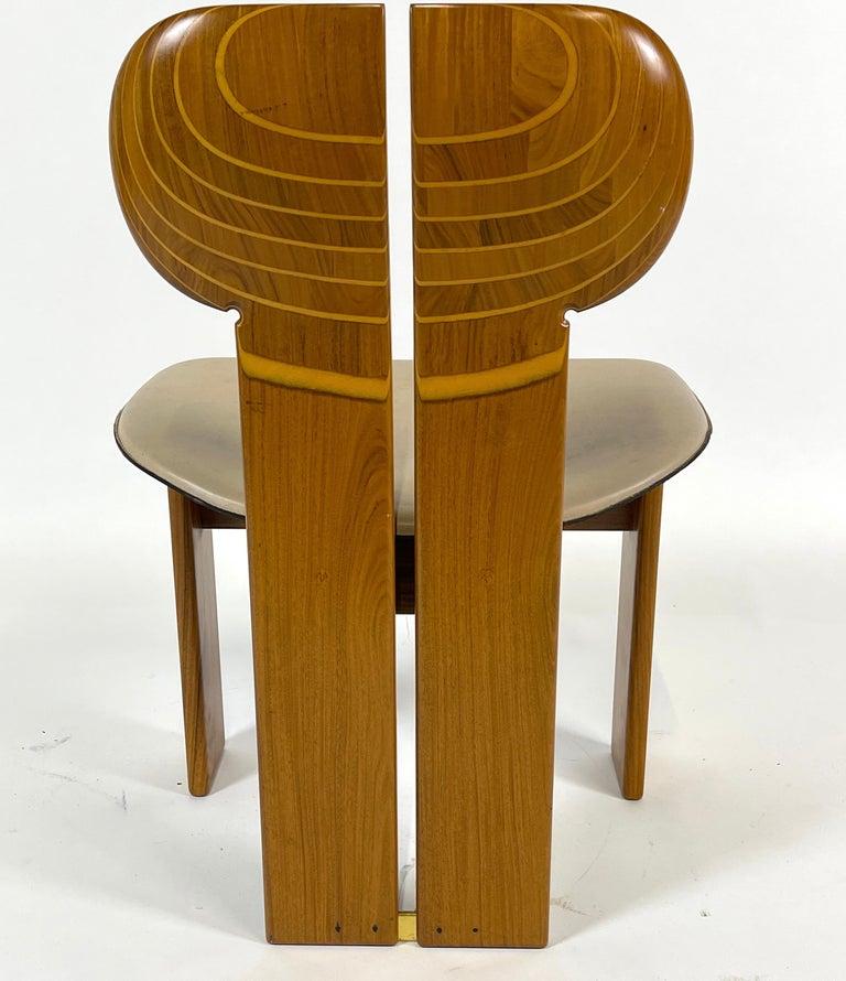 Afra & Tobia Scarpa Artona Series 'Africa' Chairs Produced, Maxalto 4 Available For Sale 3
