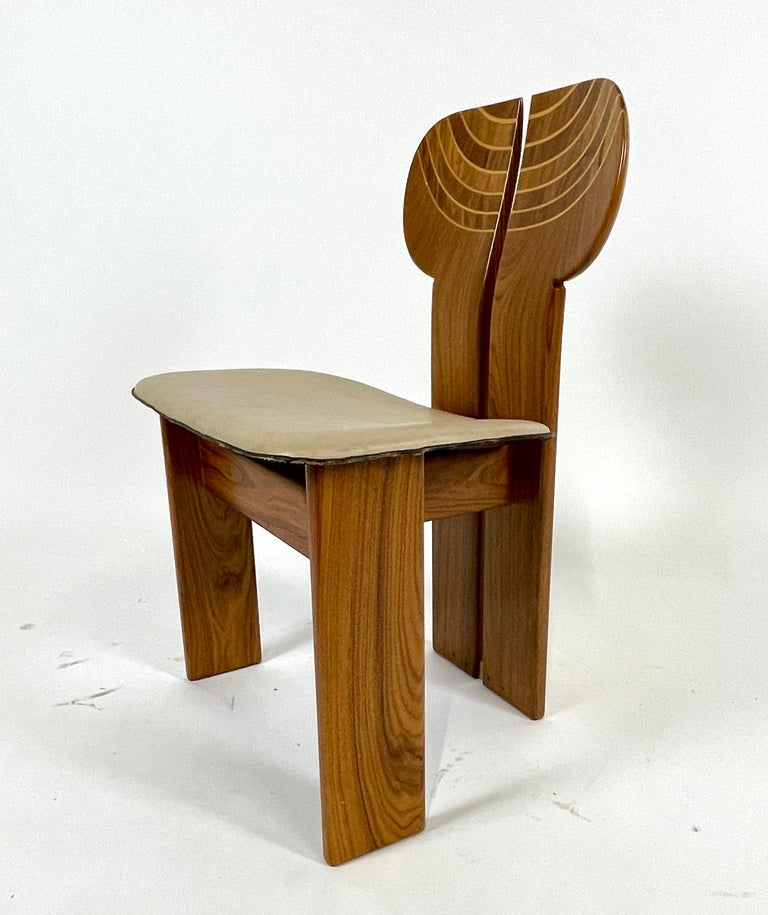 Stunning set of 4 'Africa' chairs designed by Afra & Tobia Scarpa. They are part of the 'Artona Series