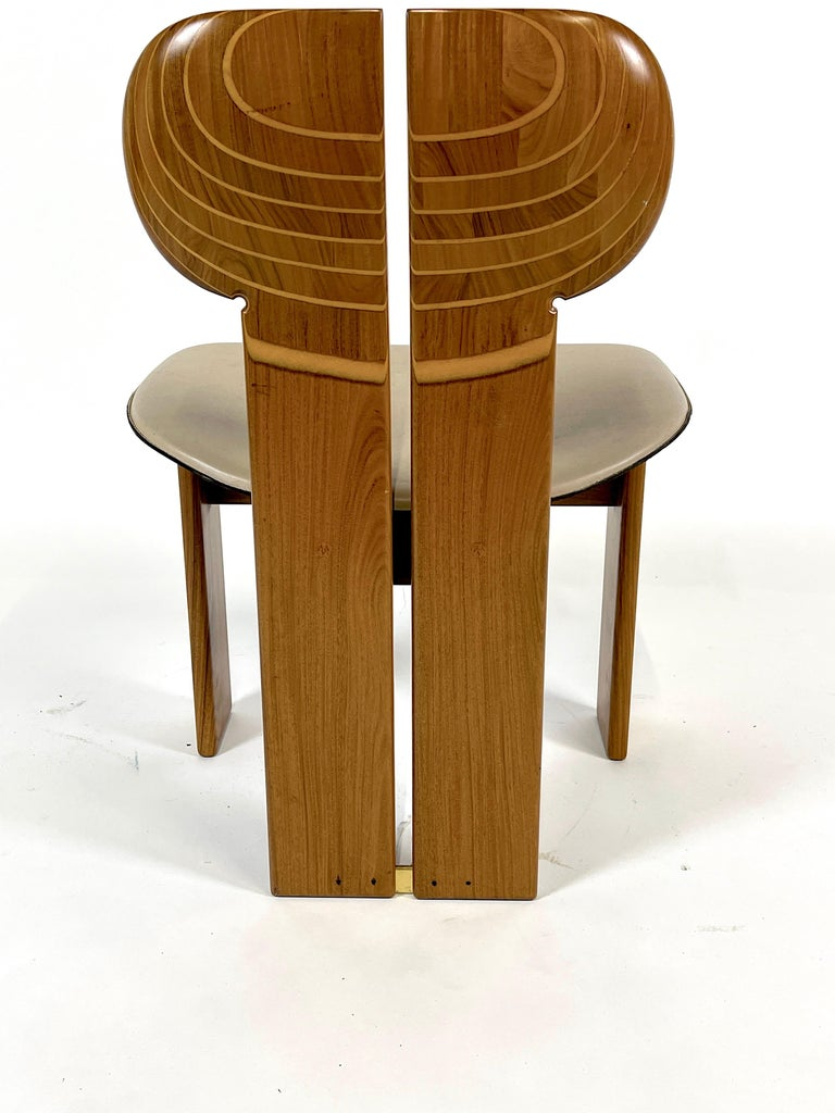 Post-Modern Afra & Tobia Scarpa Artona Series 'Africa' Chairs Produced, Maxalto 4 Available For Sale