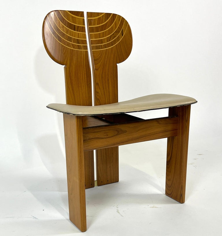 Afra & Tobia Scarpa Artona Series 'Africa' Chairs Produced, Maxalto 4 Available In Good Condition For Sale In Hudson, NY