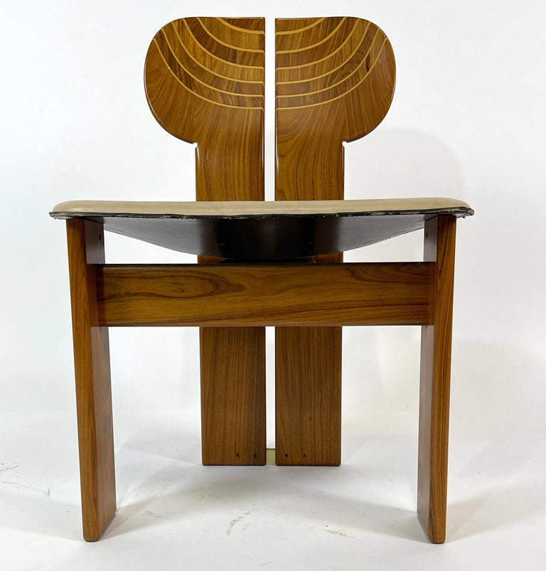 Late 20th Century Afra & Tobia Scarpa Artona Series 'Africa' Chairs Produced, Maxalto 4 Available For Sale