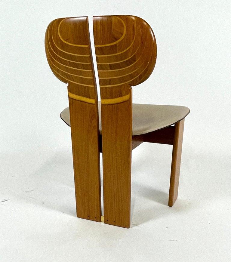 Afra & Tobia Scarpa Artona Series 'Africa' Chairs Produced, Maxalto 4 Available For Sale 1