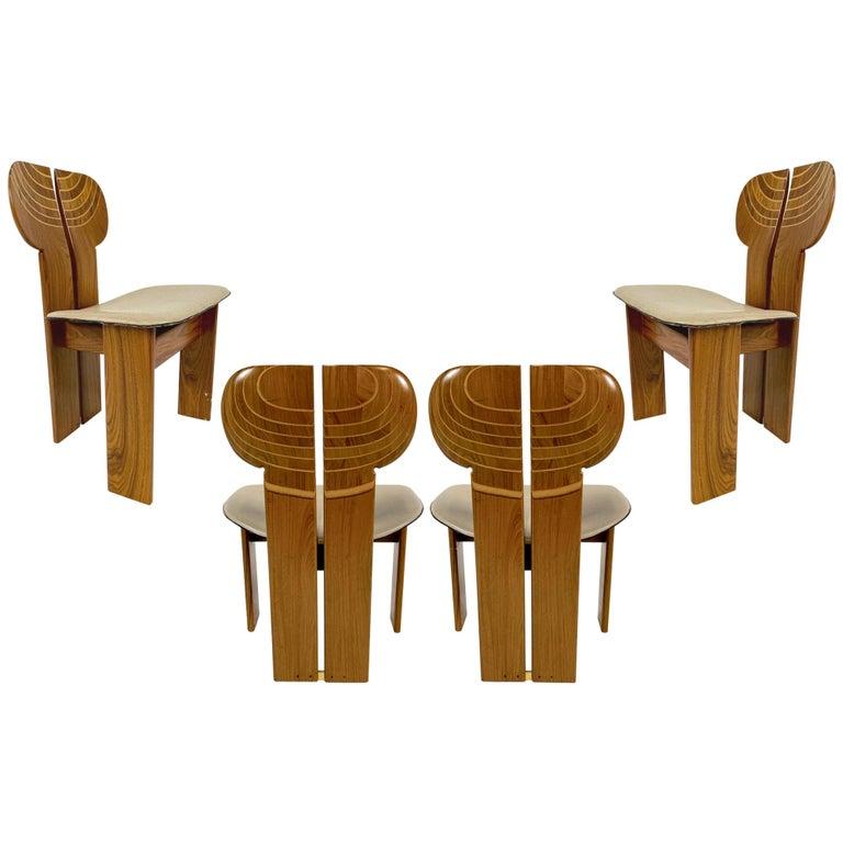 Afra & Tobia Scarpa Artona Series 'Africa' Chairs Produced, Maxalto 4 Available For Sale