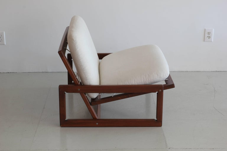 Linen Afra & Tobia Scarpa Carlotta Lounge Chairs For Sale