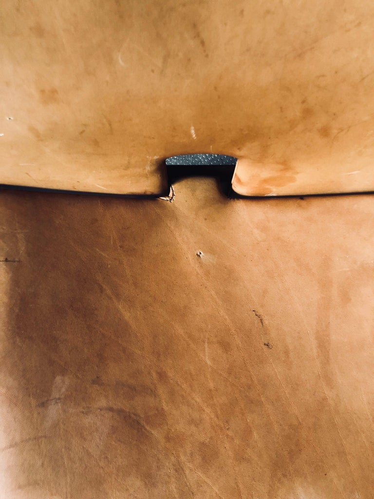 Set of Six Cognac Leather