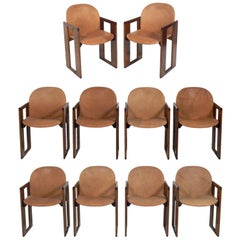 Afra & Tobia Scarpa Dialogo Dining Chairs, Set of 10