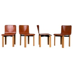 Afra & Tobia Scarpa Dining Chairs for Gavina, 1968, Set of 4