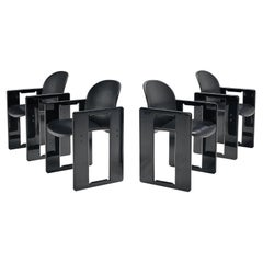 Afra & Tobia Scarpa for B&B Set of Four Black 'Dialogo' Dining Chairs