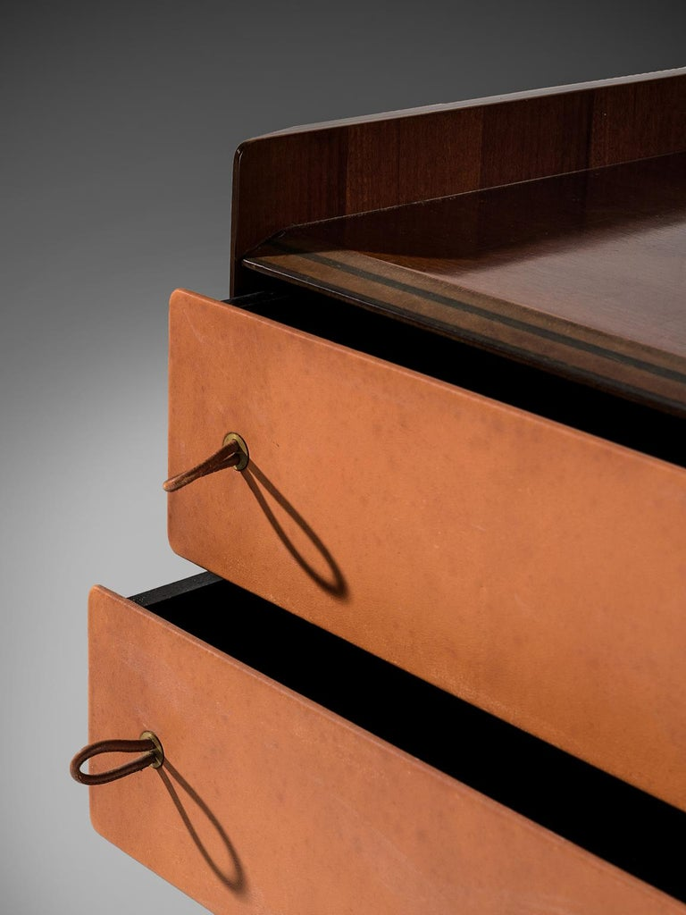 Leather Afra & Tobia Scarpa for Maxalto 'Artona' Cabinet, 1975 For Sale