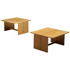 Afra & Tobia Scarpa for Maxalto 'Artona' Pair of Side Tables in Ash