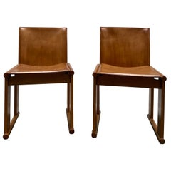 "Afra & Tobia Scarpa for Molteni Pair of ""Monk"" Chairs, Italy, 1970s"