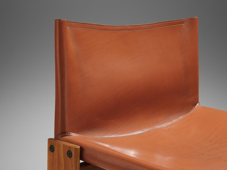 Late 20th Century Afra & Tobia Scarpa for Molteni Pair of 'Monk' Lounge Chairs For Sale