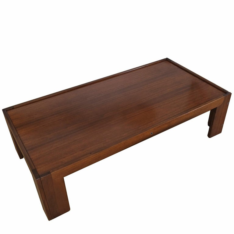 Walnut Afra & Tobia Scarpa, Low Table, Model 771, Cassina, 1960s For Sale