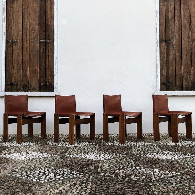 Leather Afra & Tobia Scarpa Midcentury