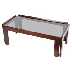 Afra & Tobia Scarpa Midcentury Wood Italian Coffee Table for Cassina, 1960s
