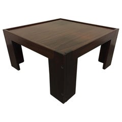 Afra & Tobia Scarpa Model 771 Rosewood Side Table Cassina, Italy, ca. 1965