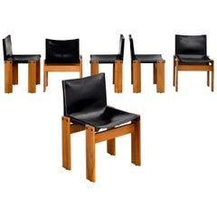 "Afra & Tobia Scarpa ""Monk"" Chairs, Set of 6"