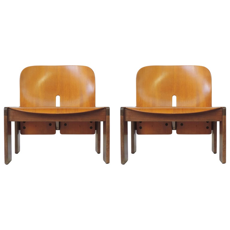 Afra & Tobia Scarpa Pair of 925 Easy Chairs for Cassina, Italy, 1966 For Sale