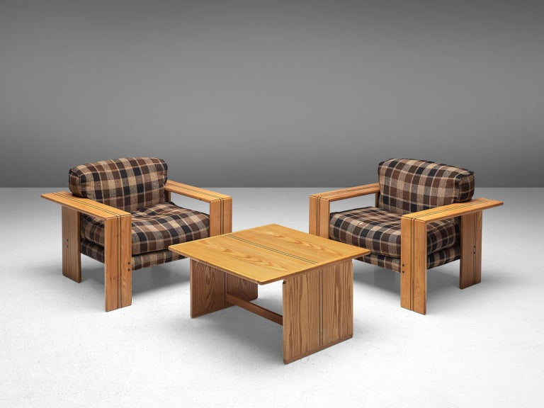 Late 20th Century Afra & Tobia Scarpa Pair of 'Artona' Lounge Chairs in Walnut