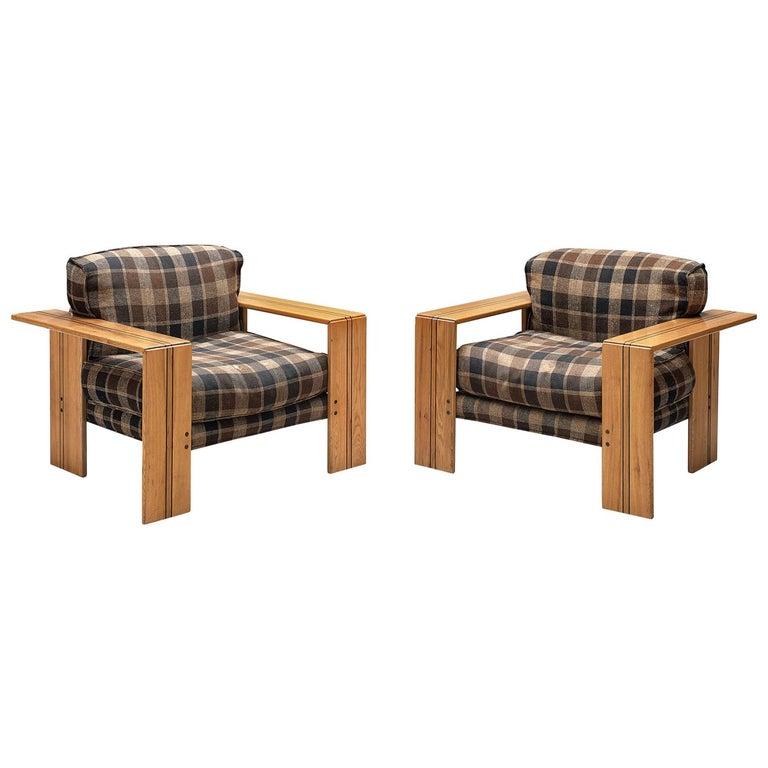 Afra & Tobia Scarpa Pair of 'Artona' Lounge Chairs in Walnut
