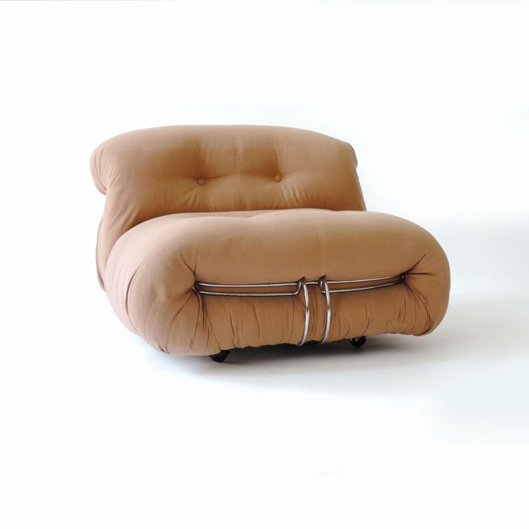 Upholstery Afra & Tobia Scarpa Pair of