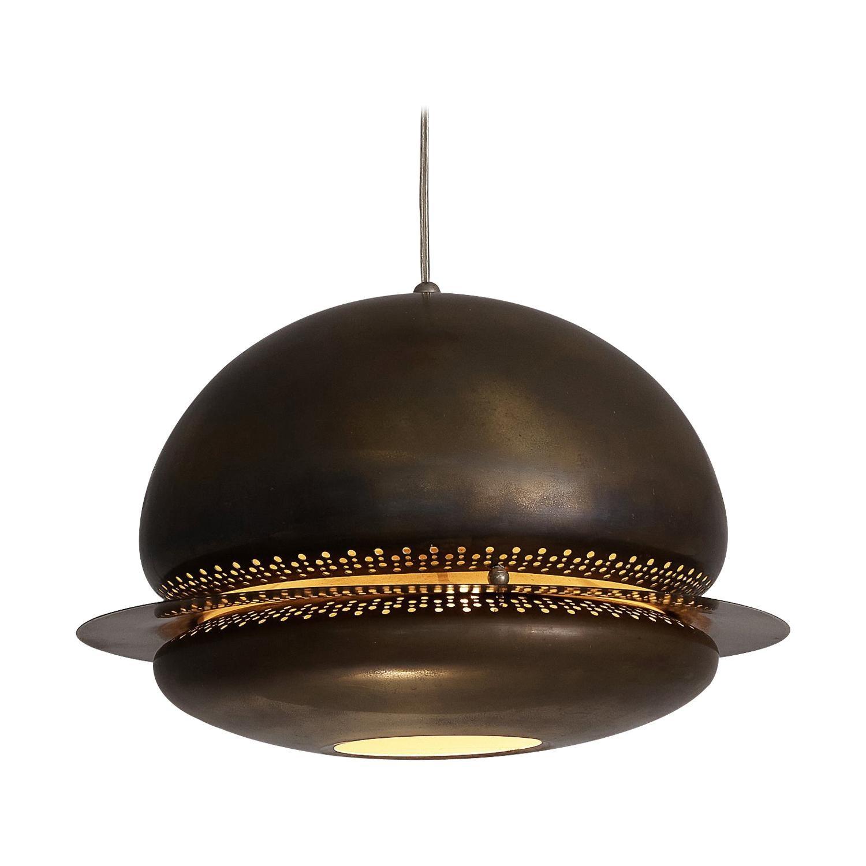 Afra & Tobia Scarpa Pendant Lamp 'Nictea' in Patinated Brass