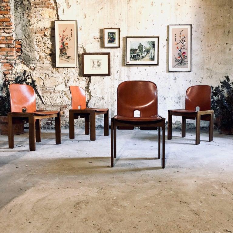 Italian Afra & Tobia Scarpa Red Leather
