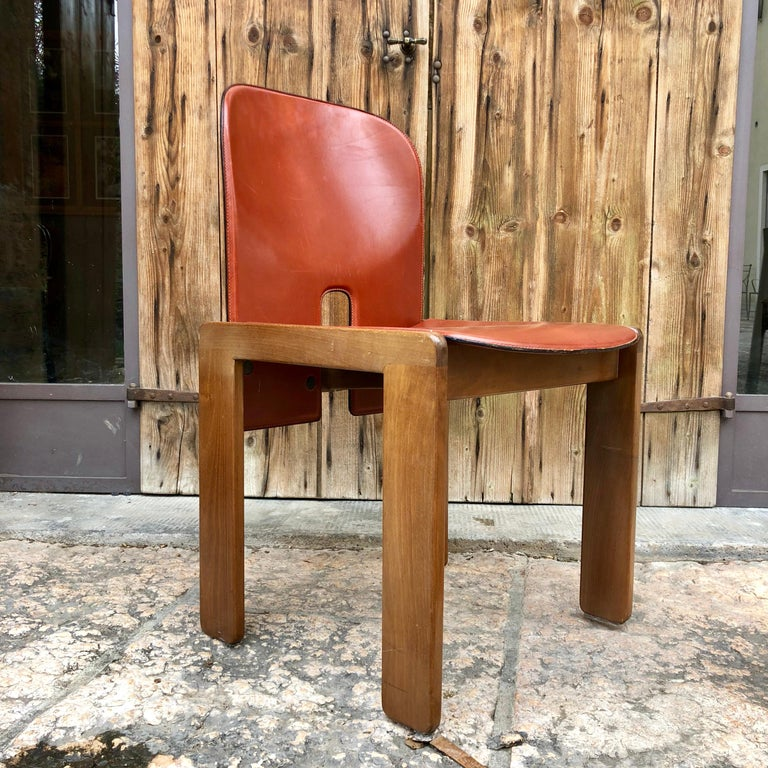 Afra & Tobia Scarpa Red Leather
