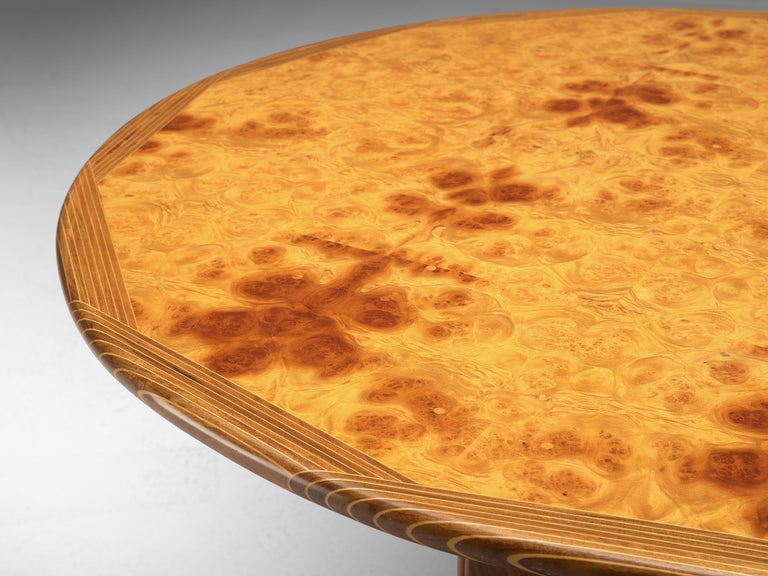 Mid-Century Modern Afra & Tobia Scarpa Round Dining Table 'Artona' in Walnut For Sale