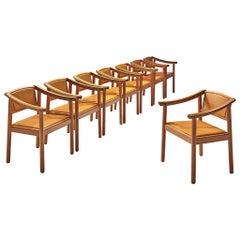 Afra & Tobia Scarpa Set of Eight 'Artona' Armchairs