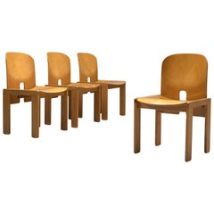 Afra & Tobia Scarpa Set of Four '121' Dining Chairs in Maple and Ash