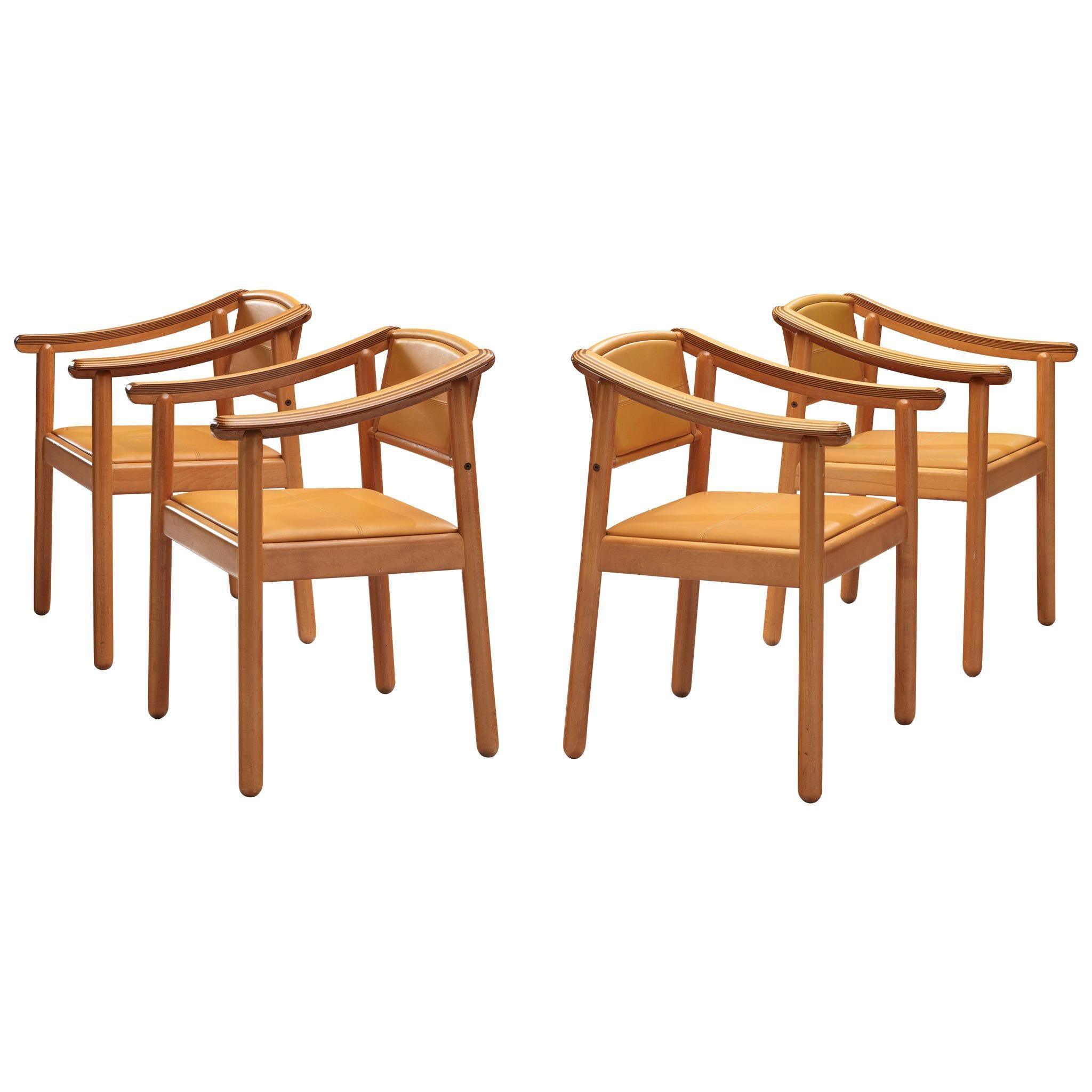 Afra & Tobia Scarpa Set of Four 'Artona' Armchairs
