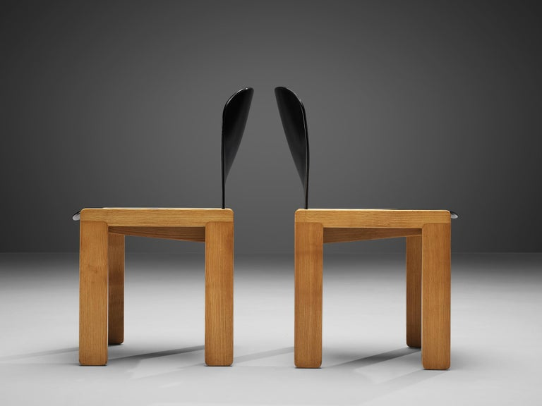 Afra & Tobia Scarpa Set of Six '121' Dining Chairs For Sale 1