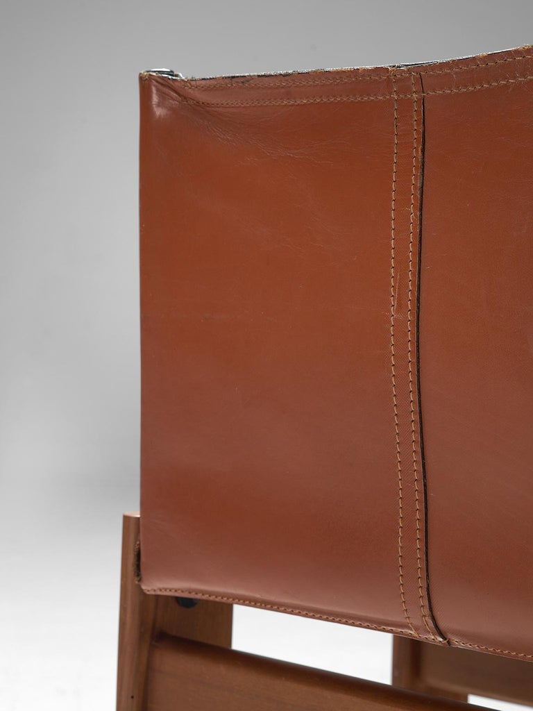 Late 20th Century Afra & Tobia Scarpa Set of Six Monk Chairs in Terracotta Red Leather For Sale