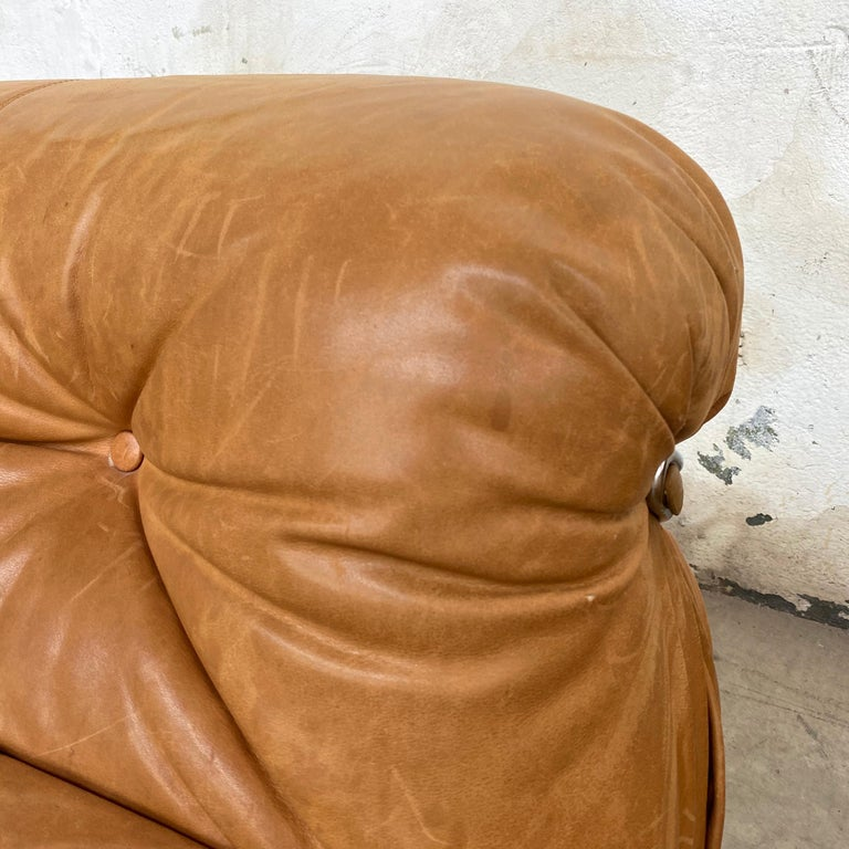 """Afra & Tobia Scarpa """"Soriana"""" Leather Chairs for Cassina, 1969 For Sale 10"""