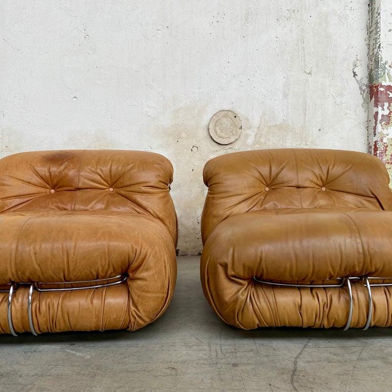 "Afra & Tobia Scarpa ""Soriana"" Living Room Set for Cassina, 1969 For Sale 3"