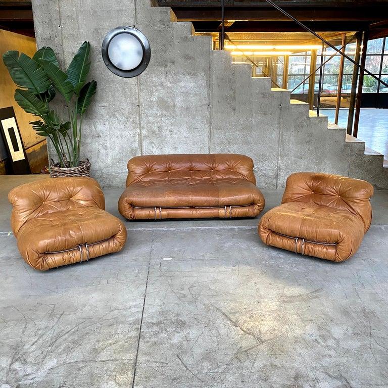 "Space Age Afra & Tobia Scarpa ""Soriana"" Living Room Set for Cassina, 1969 For Sale"
