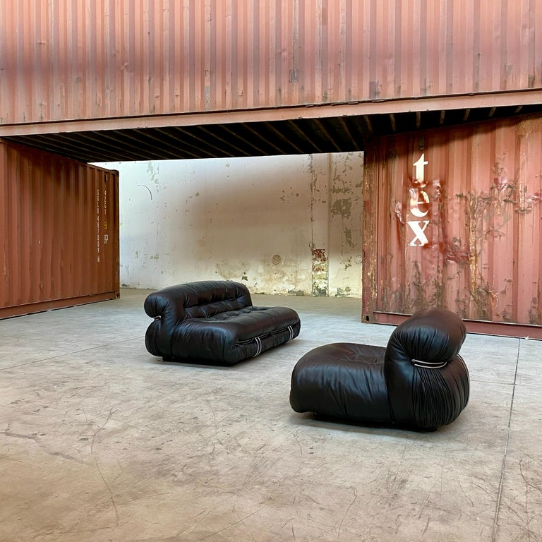 """Afra & Tobia Scarpa """"Soriana"""" Living Room Set for Cassina, 1969 In Good Condition For Sale In Lonigo, IT"""