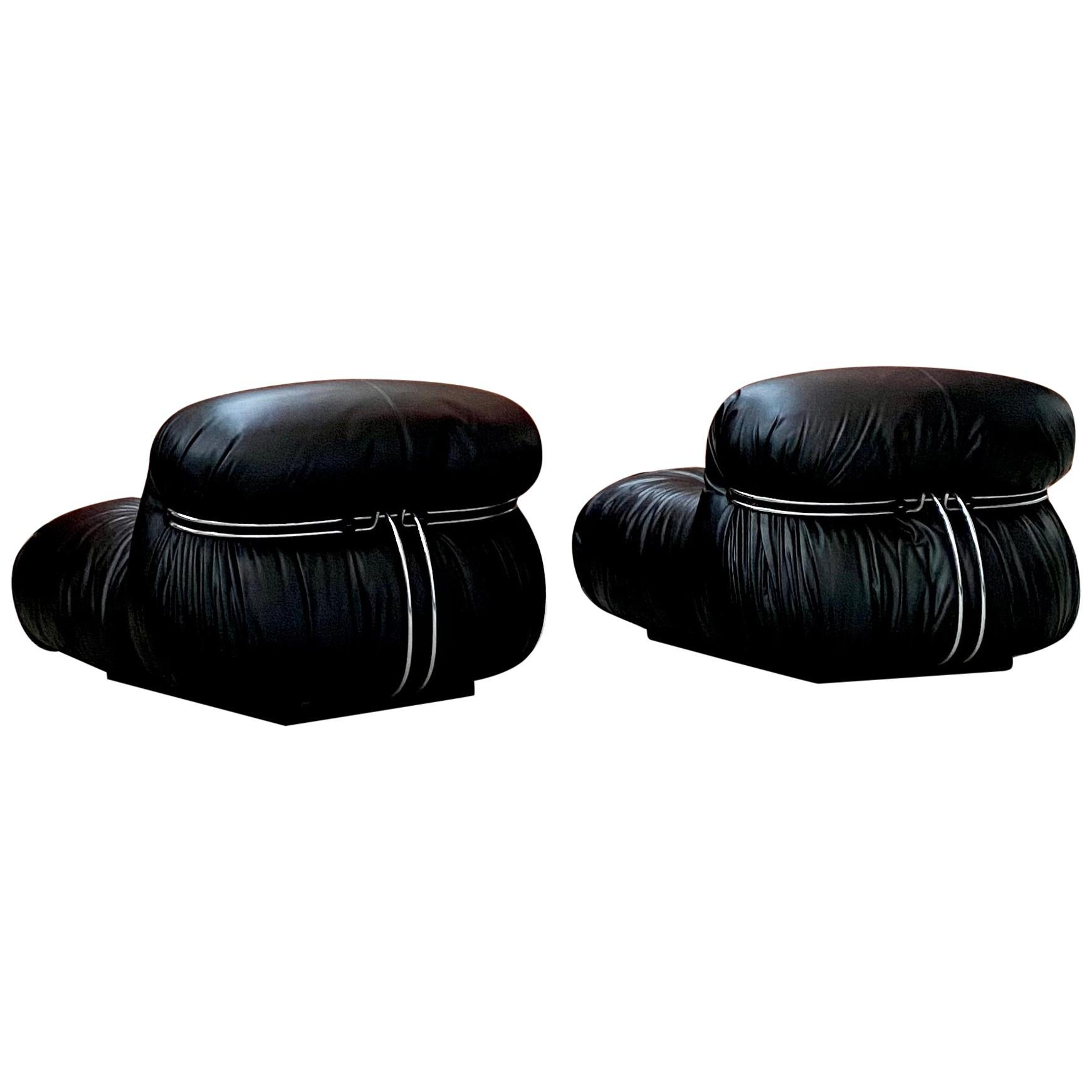 """Afra & Tobia Scarpa """"Soriana"""" Lounge Chairs for Cassina, 1969"""