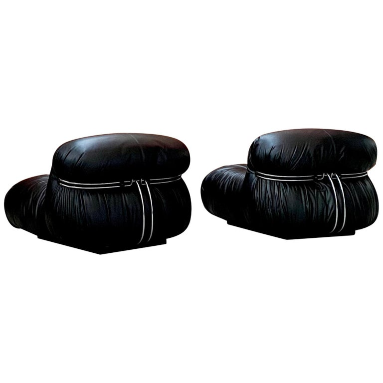 "Afra & Tobia Scarpa ""Soriana"" Lounge Chairs for Cassina, 1969 For Sale"