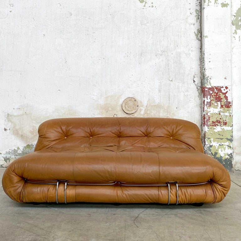 "Space Age Afra & Tobia Scarpa ""Soriana"" Sofa for Cassina, 1969 For Sale"