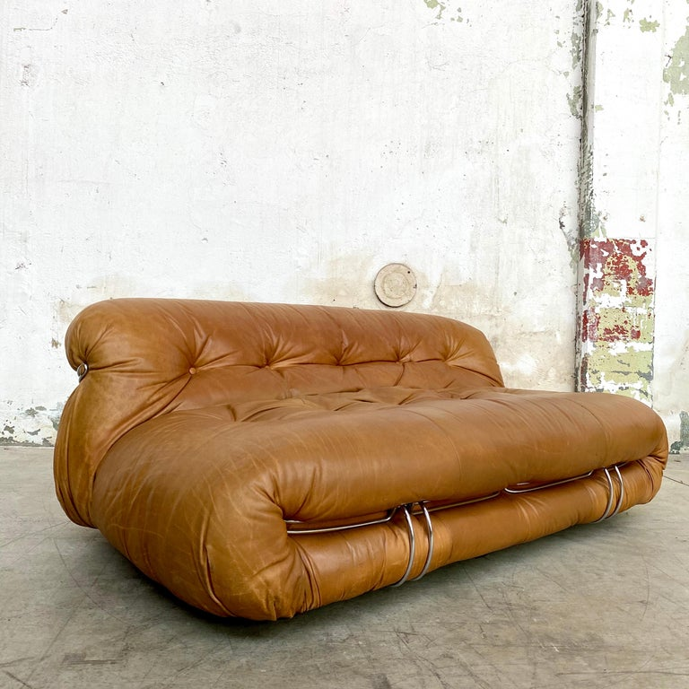 "Afra & Tobia Scarpa ""Soriana"" Sofa for Cassina, 1969 In Good Condition For Sale In Lonigo, IT"