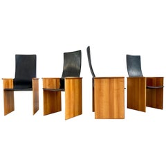 "Afra & Tobia Scarpa ""Torcello"" Dining Chairs for Stildomus, 1964, Set of 4"