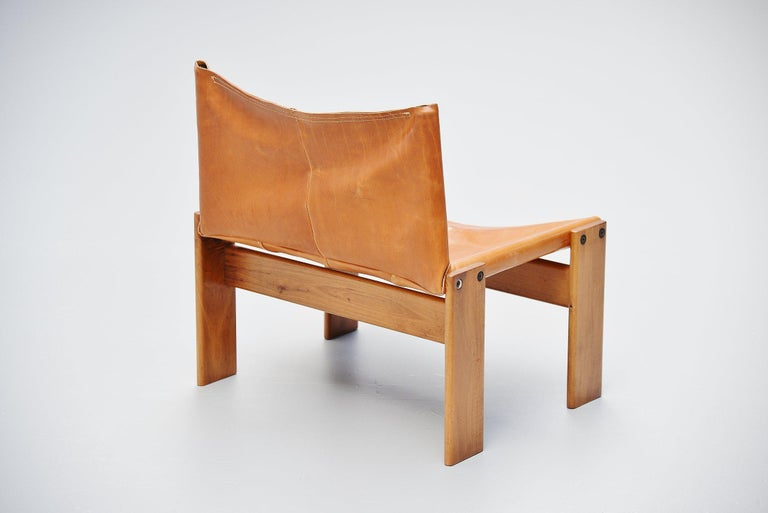 Afre e Tobia Scarpa Monk Lounge Chairs Molteni, Italy, 1974 For Sale 1
